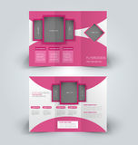 Brochure mock up design template for business, education, advertisement. Royalty Free Stock Photos