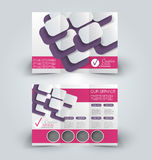 Brochure mock up design template for business, education, advertisement. Stock Images