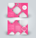 Brochure mock up design template for business, education, advertisement. Trifold booklet Royalty Free Stock Image