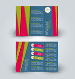 Brochure mock up design template for business, education, advertisement. Trifold booklet Stock Photography