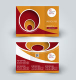 Brochure mock up design template for business, education, advertisement. Trifold booklet Royalty Free Stock Photography