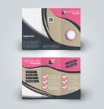 Brochure mock up design template for business, education, advertisement. Stock Photos