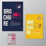 Brochure moderne de vecteur, conception minimale de couverture Photos stock