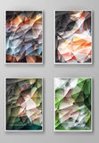 Brochure with Multicolored Polygonal Backgrounds Royalty Free Stock Photo