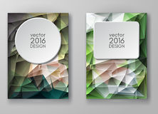 Brochure Multicolored Polygonal Mosaic Backgrounds Stock Photography