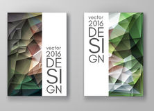 Brochure Multicolored Polygonal Mosaic Backgrounds Royalty Free Stock Photos