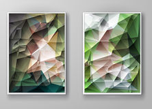 Brochure Multicolored Polygonal Mosaic Backgrounds Royalty Free Stock Photography
