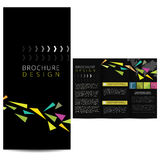 Brochure noire Images libres de droits