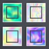 Brochure olographe universelle d'illustration de vecteur de surface de fond de coloriages d'abrégé sur texture de tache floue Image libre de droits