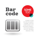 Brochure or page template with barcode Stock Photography