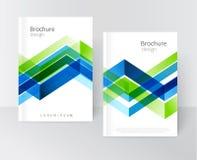 Brochure, pamflet, vlieger, dekkingsmalplaatje Stock Illustratie