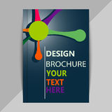 Brochure, poster design templates in DNA molecule style royalty free illustration