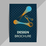 Brochure, poster design templates in DNA molecule style stock illustration