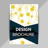 Brochure, poster design templates in DNA molecule style vector illustration