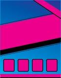 Brochure rose bleue d'insecte d'événement Photo libre de droits