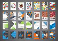 28 brochure in 1 set. Set of retro and modern cover design, brochure template Royalty Free Stock Photos