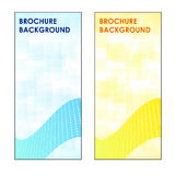 2 Brochure Square Backgrounds. Blue and Orange Royalty Free Stock Photography