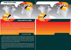 Brochure Style Concept Royalty Free Stock Image