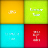 Brochure summer template set Royalty Free Stock Photography