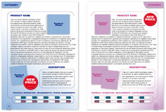 Brochure template (2 color pages). Abstract design template of brochure pages Stock Photos