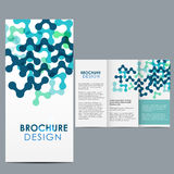 Brochure Template. Blue Brochure Template layout design Royalty Free Stock Images