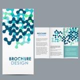 Brochure Template. Blue Brochure Template layout design Royalty Free Illustration