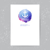 Brochure template with anchor logo Stock Images