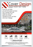 Brochure template for annual technology related reposts,vector design a4 layout with space for text and photos five Royalty Free Stock Photography