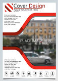 Brochure template for annual technology related reposts,vector design a4 layout with space for text and photos seven Stock Photography
