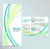 Brochure Template. Blue Brochure Layout Template design Royalty Free Stock Photography