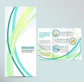 Brochure Template. Blue Brochure Layout Template design Stock Illustration