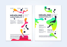 Brochure template for business, modern journal. Royalty Free Stock Photos