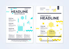 Brochure template for business, modern journal. Stock Photography