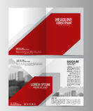 Brochure template. Can be used for magazine cover, business mockup. Abstract flyer design background. Brochure template. Can be used for magazine cover Stock Photography