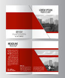 Brochure template. Can be used for magazine cover, business mockup. Stock Image