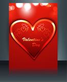 Brochure template card for valentine's day background Stock Photography