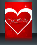 Brochure template card for valentine's day heart beautiful Stock Photos