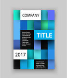 Brochure template. Concept of square design. Vector illustration. Cover for annual report cover or magazine. Stock Images