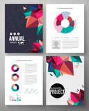 Brochure template design for an annual project Stock Photo