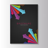 Brochure template design with arrows. Vector Royalty Free Stock Photography