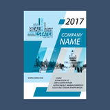 Brochure template design. Concept of architecture design with wordcloud.. Vector illustration. Brochure template for real estate company. Brochure template for Royalty Free Stock Images