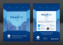 Brochure template design. Concept of architecture design. Vector illustration royalty free illustration