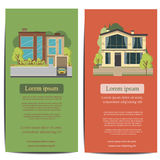 Brochure template design. Concept of architecture vector illustration Royalty Free Stock Photo