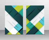 Brochure template design with cubes and translucent folds elemen Royalty Free Stock Images