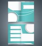 Brochure template design, layout business brochure Stock Images