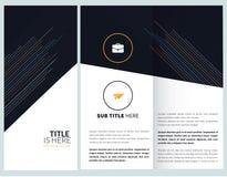 Brochure template design. Minimal, corporate brochure, template design Royalty Free Stock Image