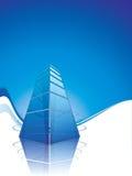 Brochure template design. Modern business center Royalty Free Stock Photos