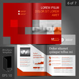 Brochure Template Design stock illustration