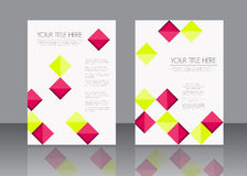 Brochure template design Royalty Free Stock Photos