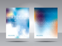 Brochure template, flyer, card or banner of technology and commu Royalty Free Stock Image